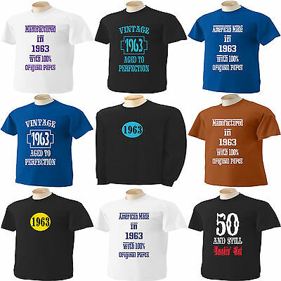 50TH BIRTHDAY 41 T Shirt Designs To Choose From 50 Years Old Small