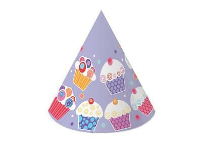 CLEARANCE Sweet Cupcake Party Cone Hats x 6
