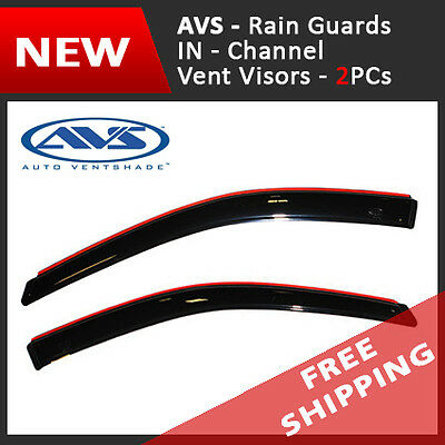 AVS IN-Channel Vent Visors Window Rain Guards for 99-13 Ford Super Duty Reg Cab