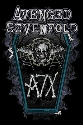 AVENGED SEVENFOLD ~ CHAIN COFFIN 24x36 MUSIC POSTER A7X CoffinDeath Skull