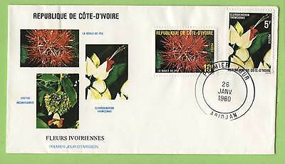 Ivory Coast 1980 Flowers First Day Cover