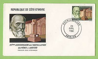 Ivory Coast 1980 Holy Fathers of AboissoFirst Day Cover