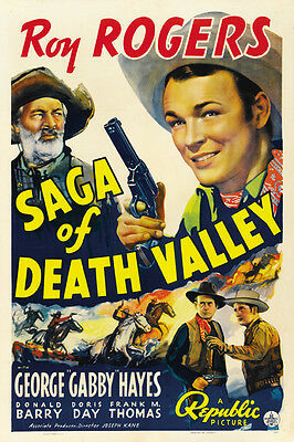 Roy Rogers Western movie poster 14x36 inches approx. In Old Cheyenne 1941