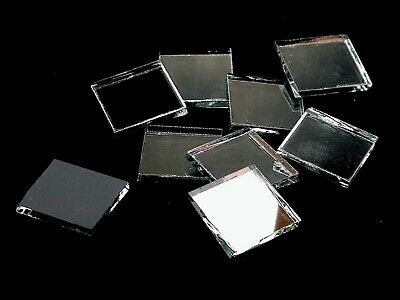 Silver Mirror Mosaic Glass Tile | Hand Cut to Order Shapes | Medium Package