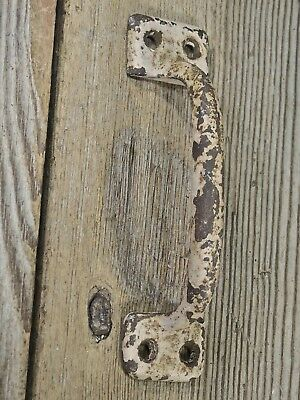 "Screen door handle drawer pull shabby rusty vintage old paint 4 3/4"" sash lift"