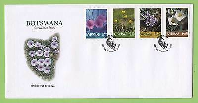 Botswana 2004 Christmas, Flowers set on First Day Cover