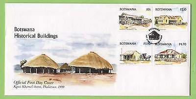 Botswana 2005 Historical Buildings set on First Day Cover
