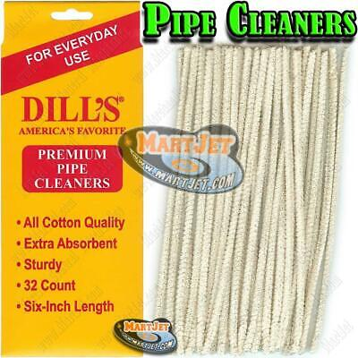 Dills Everyday Cotton Pipe Cleaners Absorbent Standard Regular Tobacco Cleaning