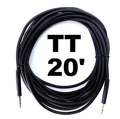 TT Bantam 20 Foot Gold Patch Cable Cord / Quad Core / New / High Quality