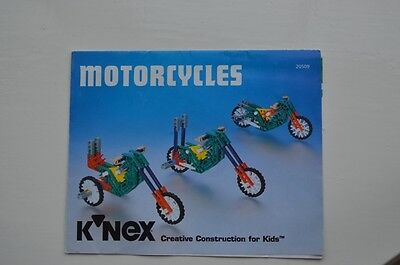 KNEX Instruction Leaflet - 1 Page, Motorcycles , 20509