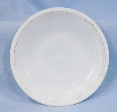 Akro Agate Childs Saucer White Concentric Ring from Tea Set Depression Glass