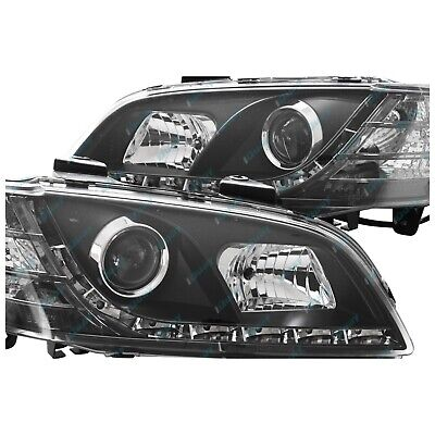 Holden Commodore '06-'10 VE Series 1 BLACK LED DRL Projector Headlights Lights