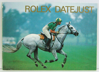 Rolex Datejust Booklet, Various Years Available