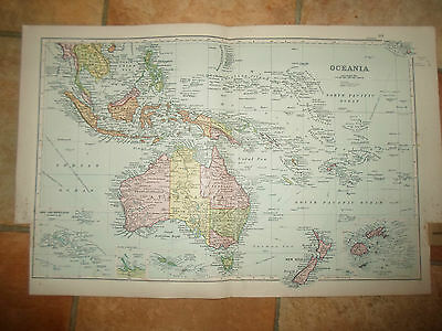 Old Map - OCEANIA -  From Bacon's Popular Atlas Of The World - 1907 (No 10)