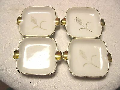 SET OF 4 LEFTON CHINA ASHTRAYS #2742  FREE SHIPPING