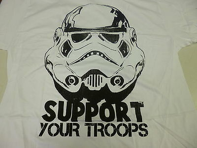 Mens Star Wars Brand Storm Trooper Support Your Troops Shirt New M