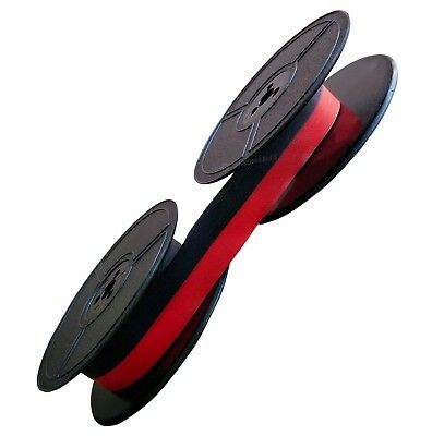 Typewriter Ink Ribbon Olympia Splendid 33 66 99 Twin Spool Black / Red 1001Fn