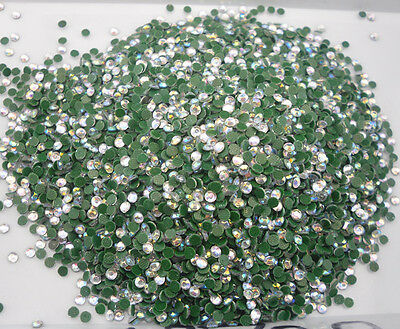 SS6 Hotfix iron clear AB 2mm glass Crystal Multiple facet Flat Back Rhinestones