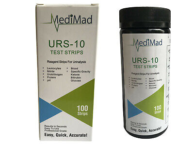 100 Urine Test Strips 10 PARAMETER Ketone Infection Liver pH Blood UTI FAST POST