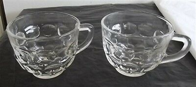 Federal Glass Clear Yorktown 6 ounce Punch Snack Cup Set of 2