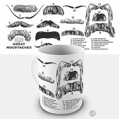Great Moustaches Novelty Funny Mug Tea Coffee Gift Office Cup