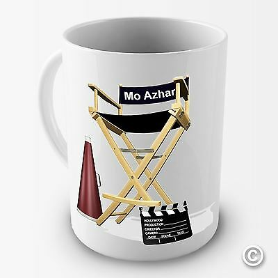 Personalised Directors Chair Office Funny Novelty Mug Tea Coffee Gift Cup Retro