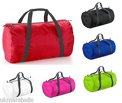 Bagbase Packaway Barrel Holdall Gym Travel Fitness Yoga PE Training Bag BG150