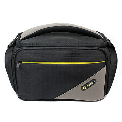Black Camera Case Shoulder Carry Bag For Nikon Canon Olympus Sony Panasonic DSLR