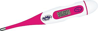 BabyMad® HOT PINK BASAL BODY THERMOMETER OVULATION FERTILITY DIGITAL + BBT CHART