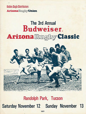 Usa 1977 Budweiser Arizona Rugby Classic Tournament  Programme