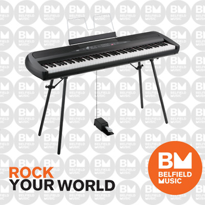 Korg SP280 Digital Piano Black 88 Key SP-280 with Stand and Pedal - BNIB - BM