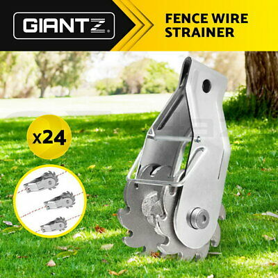 Giantz 24 x Electric Fence Wire Strainer Tensioner Post Ratchet Rope Strainers