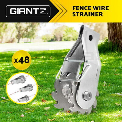 Giantz 48 x Electric Fence Wire Strainer Tensioner Post Ratchet Rope Strainers