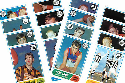 Australian Footballers 1969 - New Collectable Postcard Set