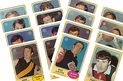 Australian Footballers 1970 - New Collectable Postcard Set