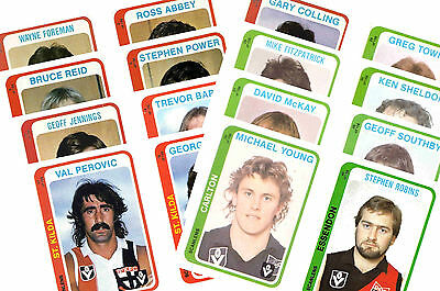 Australian Footballers 1979 - New Collectable Postcard Set # 1