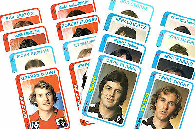 Australian Footballers 1979 - New Collectable Postcard Set # 3