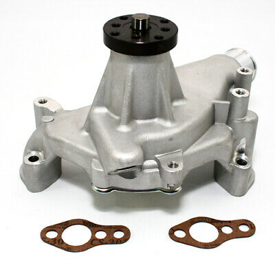 "Small Block Chevy 350 High Volume Long Aluminum Water Pump Natural 5/8"" Pilot"