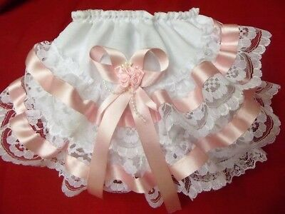"""Dream 6-12 Month Baby Romany  Pink Trim Frilly Knickers 30"""" Reborn Dolls."""