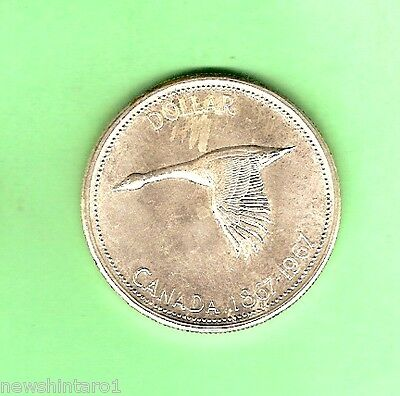 1967 Canada Silver Dollar - Uncirculated, Goose Design