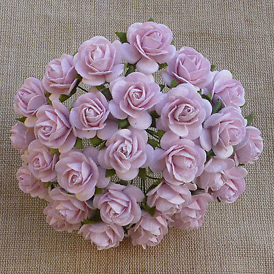 Craft Embellishments MULBERRY PAPER FLOWERS 50 x 1cm OPEN ROSES Various Colours