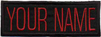 """Custom VIDEO style Ghostbusters Name Tag Patch with a Hook backing -""""YOUR NAME"""""""