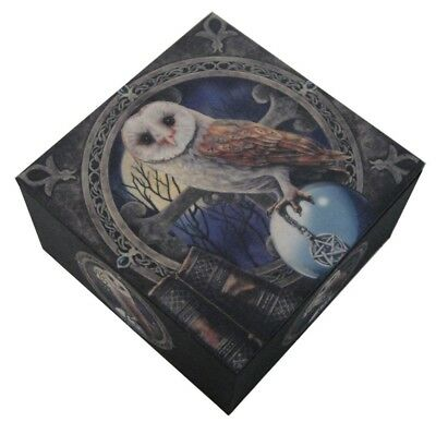 Pagan Witchcraft Owl Talisman Pentagram Jewelry Mirror Box By Lisa Parker