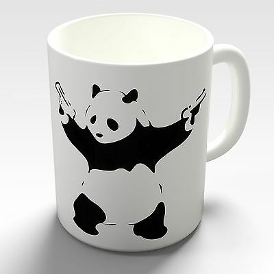 Banksy Panda with Guns Novelty Coffee Gift Mug