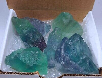 Fluorite Collection 1/2 Lb Natural Green Purple Blue Gemstone Rough