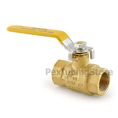 "3/4"" NPT Brass Ball Valve Full Port, Shut-Off Valves, UL CSA FM, 600psi WOG"