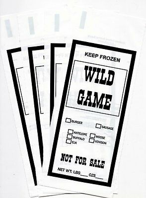 Wild Game Ground Meat Freezer Chub Bags 1Lb 200 Count Free Shipping Sib Supply