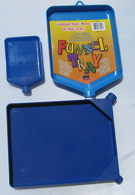 Tray Funnel Bead Craft Tool Plastic Blue Single Tray Sets Beading Glitter W Cap