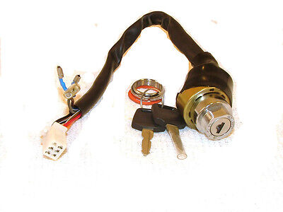 Ignition Key Switch 6 WIRE Male Plug ATVs and Go Karts