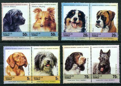 Tuvalu-Nukulaelae 1985 Dogs Complete Mint Never Hinged Set Of 8 Stamps!